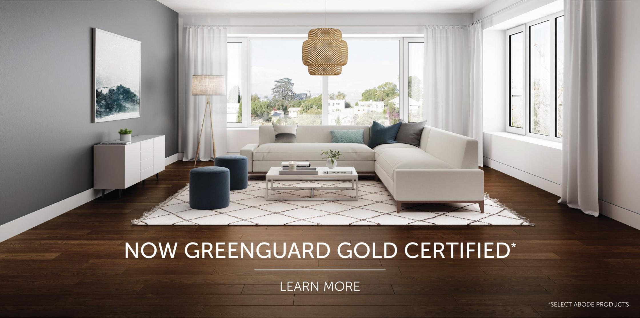 Selected Abode Products Now Greenguard Gold Certified